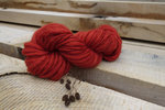 brickred handspun merino wool