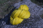 neon yellow handspun merino wool