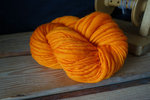 neon orange handspun merino wool